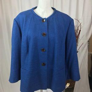 TALBOTS Blue Button Fine Blazer